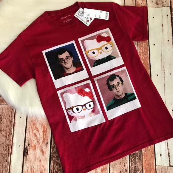 9fb4084e1 Hello Kitty x Keith Haring T-Shirt Small NWT Red. M_5c468f07819e900da1c88276